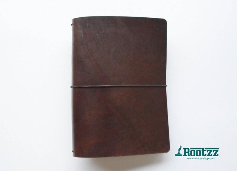 A5 travelers notebook brown midori  fauxdori image 0