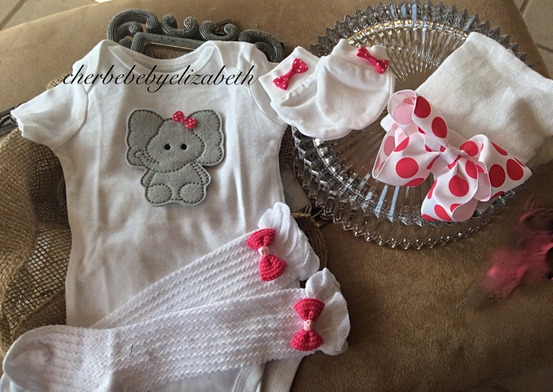 69a8c03a164c Baby Elephant Newborn baby girl coming home outfit onesie