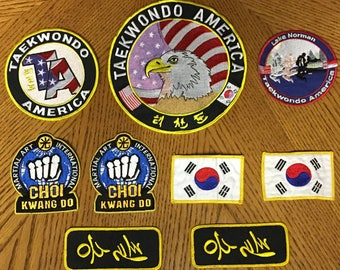 Lot of 9 Tae Kwon Do Patches