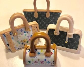 688ea16121d Set of 4 designer handbags- Cake topper
