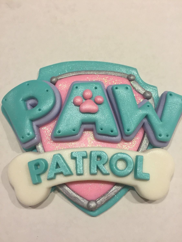Paw Patrol Inspired Girl\'s Logo Shield | Etsy