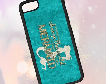 Inspirational Quote iPhone 5 5S 6 6S 7 7S 8 8S Plus X XS XR LG 5 6 Samsung Galaxy S5 S6 S7 S8 S9 Note Edge Watercolor Mermaid Phone Case