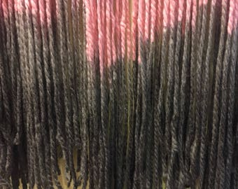 Flowing canvas, tapestry, wall art, fiber art, dip dye