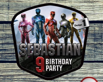 Power Rangers Centerpiece Printable Centerpiece for Birthday Party Decoration. Digital file or Printed