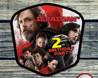 Star Wars The Last Jedi Centerpiece, Printable Centerpiece for Birthday Party Decoration. Digital file or Printed