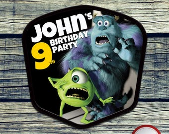 Monsters Inc. Centerpiece Printable Centerpiece for Birthday Party Decoration. Digital file or Printed