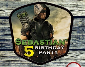 The Green Arrow Centerpiece Printable Centerpiece for Birthday Party Decoration. Digital file or Printed