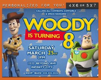 Toy Story invitation, Toy Story Birthday Invitation, Personalized Disney Toy Story theme invitation, custom printables invite for kids party