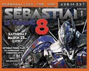 Transformers invitation, Transformers Birthday Invitation, Transformers invite, Transformer Birthday Invite, Transformer birthday party