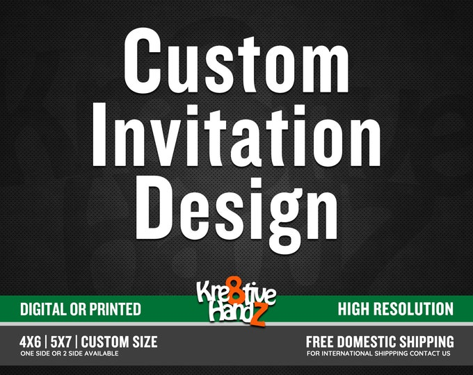 Featured listing image: Custom Invitation Design from Scratch, Custom Design Service, personalize theme party invite design service for your any theme party