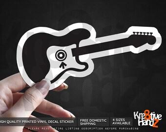 Eddie Vedder Guitar Vinyl Decal Sticker, Pearl Jam Vinyl Decal Sticker, Grunge Music fan Vinyl Decal Sticker, Printed Decals