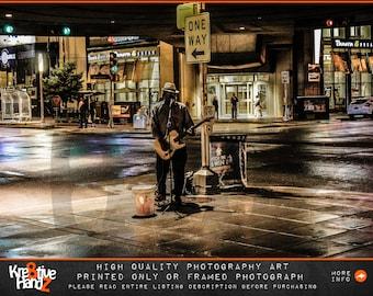 Indianapolis Photograph, urban art photograph,Indianapolis Street Musician Photograph,Indianapolis art prints, high quality prints or framed