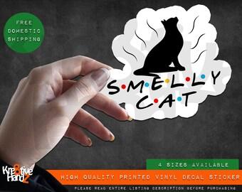 Smelly Cat Vinyl Decal Sticker, Friends Vinyl Decal Sticker, Waterproof Vinyl Decal Sticker, Printed Vinyl Decals