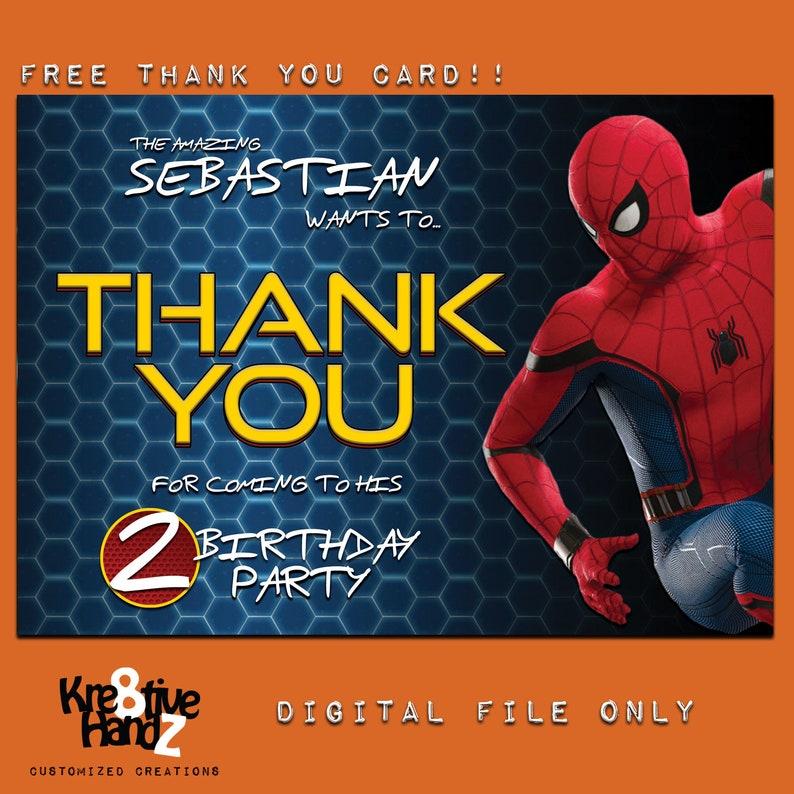 divers modèles Personnalisé Spiderman Anniversaire//cartes de vœux