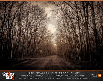 Sepia Dirt Road photograph, trees photograph, Sepia photograph, Outdoor photography, Sunset photograph,Park photograph,Printed or Framed
