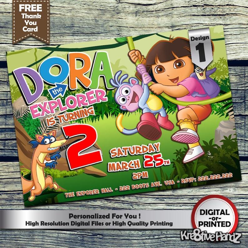 50 Dora Invitation Template FREE Dora The Explorer Birthday