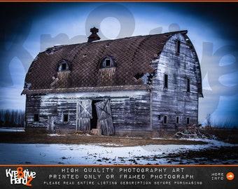 Abandoned Barn Photograph, Bay City photograph, Michigan Photograph, outdoor photography, winter Photography, Michigan abandoned photograph