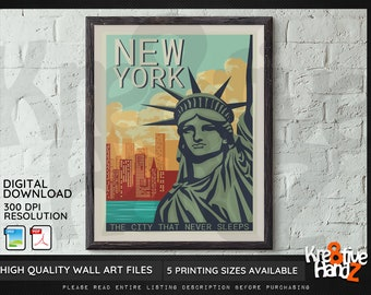 New York City Wall Art, Downloadable prints, Printable Wall Art, Digital Print Download, NYC wall art, Instant Download