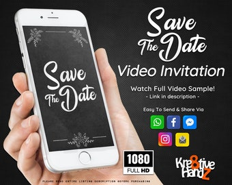Save The Date Invitation, Wedding video invitation, Video Invitation, personalized theme Video invitation,custom invitations for your party,