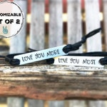 Set of 2- Personalized couple bracelet custom couples bracelet Anniversary Gift, His and Hers hand stamped bracelet,Personalized bracelet