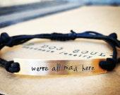 Custom Hand Stamped Bracelet, friendship bracelet, Custom Name Jewelry Quote Bracelet Gift Idea bulk stamped bracelets, personalized jewelry