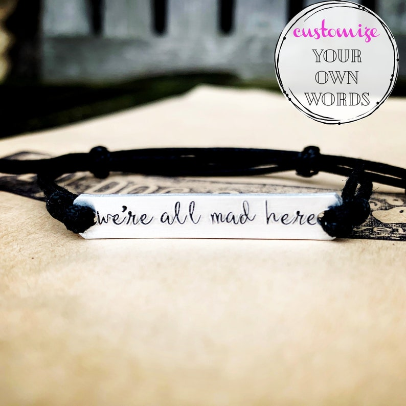 Custom Hand Stamped Bracelet friendship bracelet Custom Name image 1
