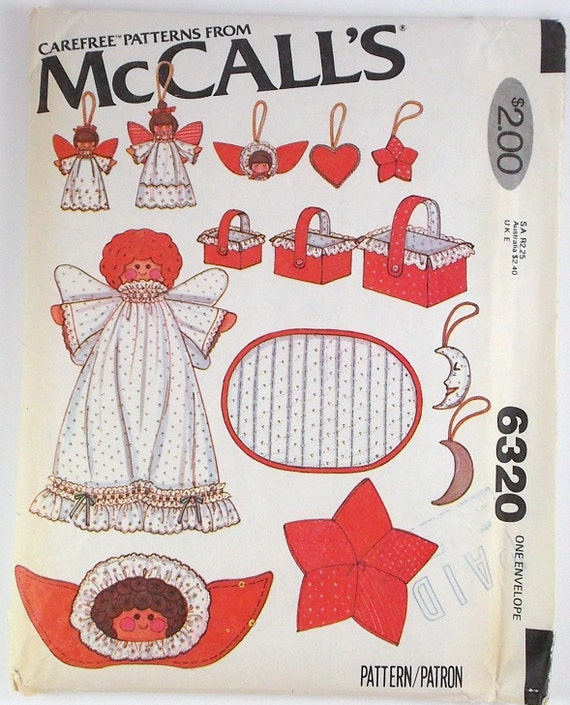 Vintage Mccalls Craft Pattern Number 6320 Holiday Decor Ideas Etsy