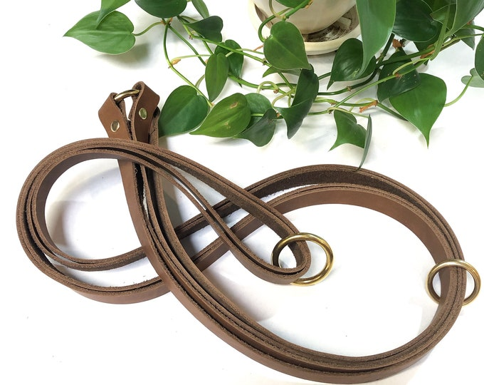 Leather And Brass Plant Hanger