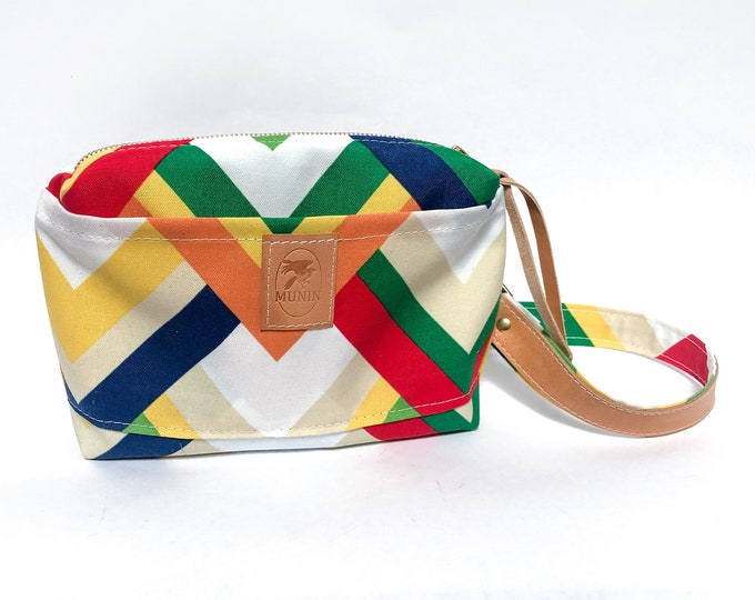 Mini Messenger Bag - Chevron Print