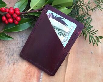 Minimalist reclaimed leather wallet
