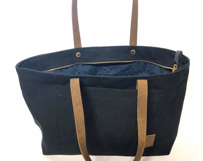 Zipper Tote with Vintage Lining