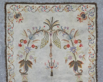 Ottoman Embroidery Prayer Rug – 3'3 x 5'1 ft. - Free shipping!