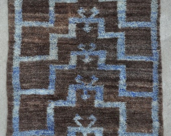Tulu rug, Central Anatolian Vintage Tulu rug with Angora pile - 4'1 x 5'11 - Free shipping!