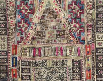Ottoman Greek Embroidery Prayer rug – 24″ x 51″ - Free shipping!