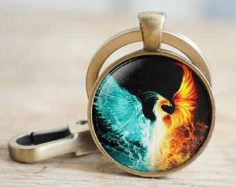 PHOENIX FIREBIRD Pewter KEYCHAIN Key Ring KEY CHAIN FOB