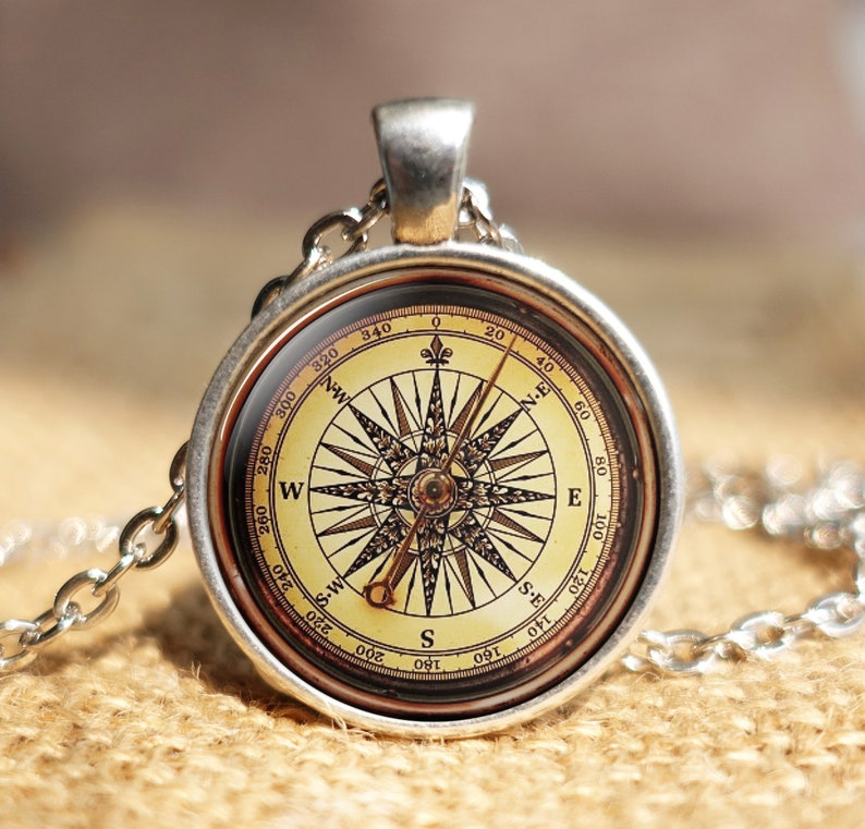 3 Compass Charms Antiqued Bronze Tone Compass Rose Pendants Nautical Findings