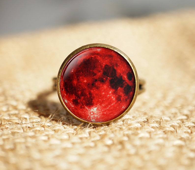 582a271d5f4 Blood Moon rings Lunar Space rings Red Moon Lunar Eclipse