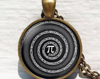 Pi Necklace,Mathematics Math Necklace,Numbers of Pi Pendant,Symbol for Pi, Math Teacher Gifts, Science Jewelry, Pi Jewelry