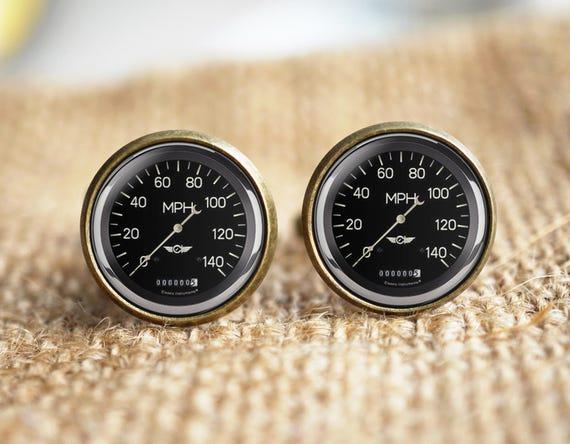boutons de manchette pour le compteur de vitesse voiture etsy. Black Bedroom Furniture Sets. Home Design Ideas