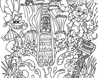Its A Small World Coloring Page Digital Download Disney Etsy