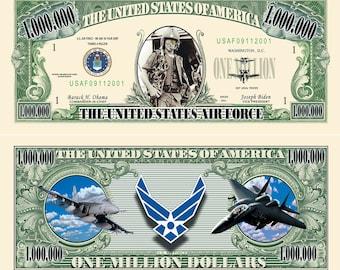 US Air Force One Million Dollar Bill Novelty Commemorative