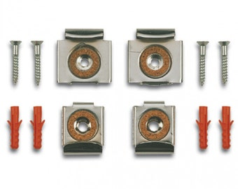 Bohle Mirror Fixings / Mirror Clips / Frame Less Mirror Clips