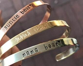 First Mothers day Gift Gift Basket for Mom Birthday Gift Mom Jewelry Mama Bear Jewelry Mama Bear Bracelet Gift for New Mom Gift Push Present & Push present | Etsy