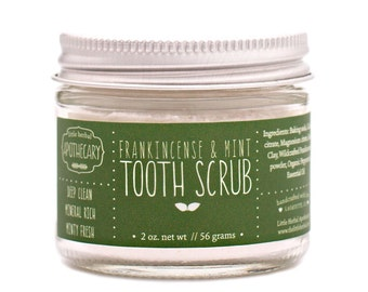 Tooth Scrub, Tooth Powder, Toothpaste, Mineral Rich, Remineralize, Gum Health, Frankincense, Peppermint