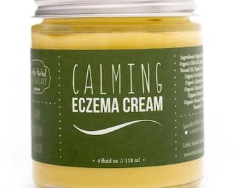 Eczema Cream, Eczema Relief, Soothing Herbs, Itch Relief, Skin Repair, Organic, Calendula, Sea Buckthorn Oil