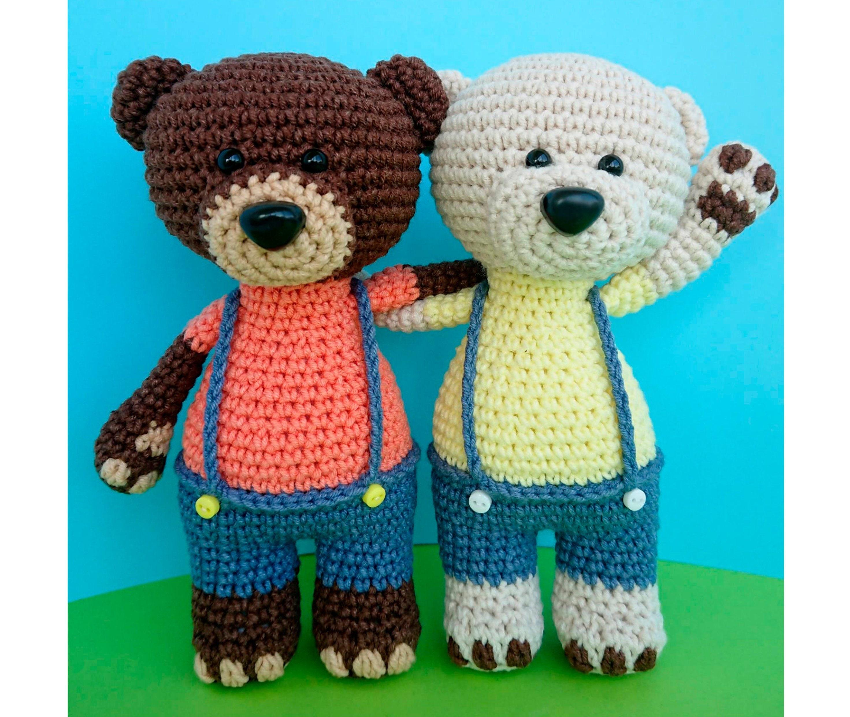 Crochet Bear Pattern Tutorial Stuffed Bear Pattern Animal Etsy