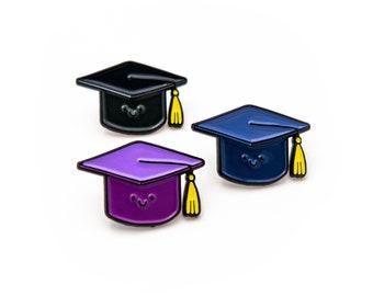 Graduation hat enamel pin - academic cap pin