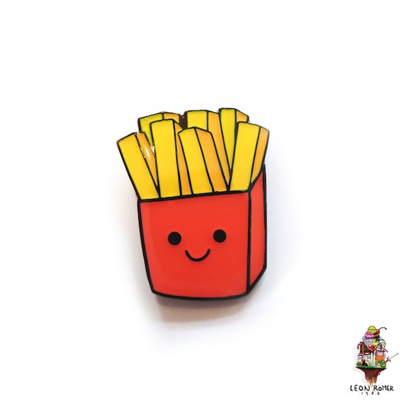Fries Enemal Pin Happy Mcdonalds Fries Etsy