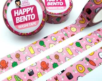 Happy Bento Washi Tape - lunch box washi Tape - sushi Washi Tape