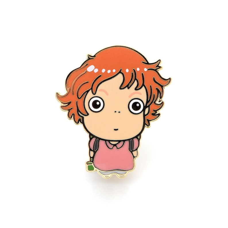 Ponyo Enamel Pin Anime Movie Fan Art Pin Studio Ghibli Etsy